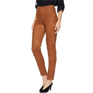 ivanka trump   faux suede pull-on pant